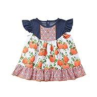 de686139e08 Halloween Pumpkin Print Toddler Kids Baby Girl Sleeveless Denim Patchwork  A-line Dress Clothes Outfits