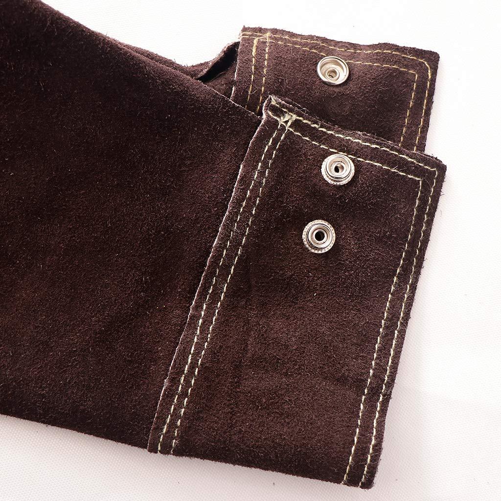 Camicia Marrone XXL Sharplace Abbigliamento Giacca Cappotto Protettivo Saldatura Elettrica Pelle Vacchetta