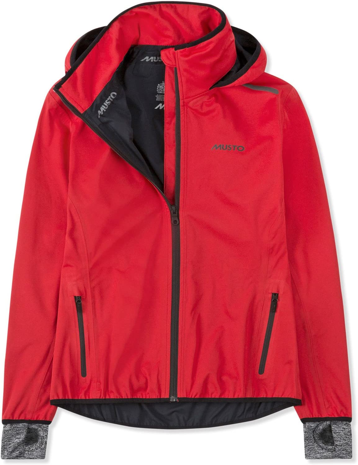 Musto Womens Arena BR2 Yacht Sailing and Boating Coat Jacket Red Easy Stretch Lightweight Waterproof Sprayproof