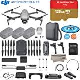 2018 DJI Mavic 2 Pro Drone Quadcopter Plus Fly More Combo Kit; Hasselblad Camera HDR Video, with 3 Batteries, 128GB Micro SD, Landing Gear & Pad, Prop Holder, Stick Protector, Extra Carrying Case