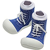 Attipas Sneaker Baby Walker Shoes, Blue, Small