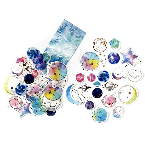 Amazon.com: Paquete de 60 pegatinas decorativas para libros ...