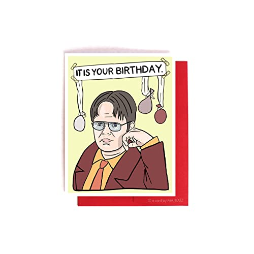It Is Your Birthday The Office Dwight Schrute Card Amazonca Handmade