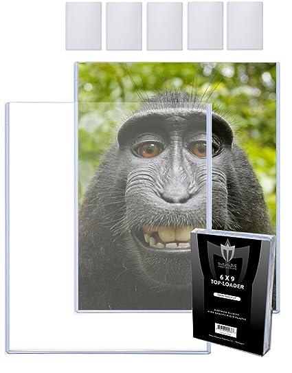 100 4x6 MAX Pro Postcard Photo Hard Rigid Ultra Clear Toploader Holder 100ct