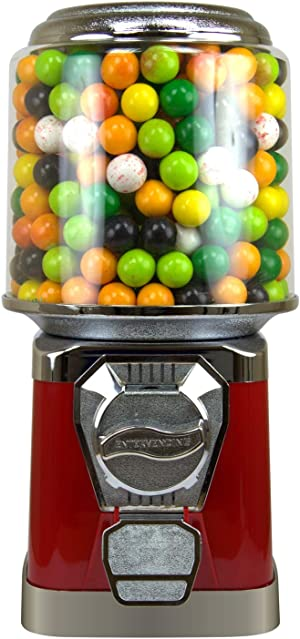 Gumball Machine for Kids - Red Vending Machine with Cylinder Bank - Candy Dispenser - Bubble Gum Machine for Kids - Home Vending Machine - Bubblegum Machine - Gum Ball Machine Without Stand