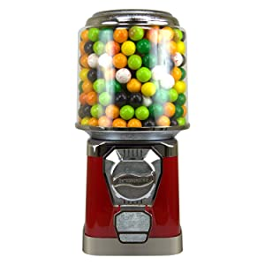 Gumball Machine for Kids - Red Vending Machine with Cylinder Bank - Bubble Gum Machine for Kids - Home Vending Machine - Coin Gumball Machine - Bubblegum Machine - Gum Ball Machine Without Stand