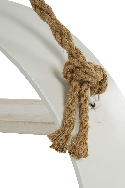Elbmöbel Wandregal Hängeregal Hängeregal Hängeregal Eisen Holz Rund (weiß, 60x60x17) 73a038