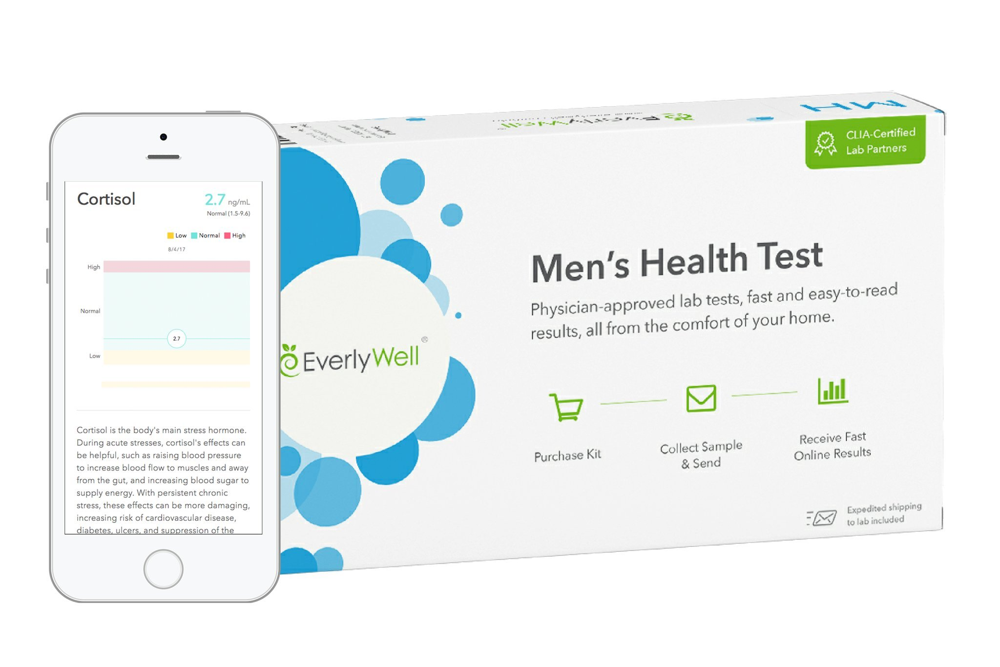 EverlyWell - Men's Health Test - Check Four Vital Hormones (Not available in MD,NY, NJ, RI) by Everly Well (Image #1)