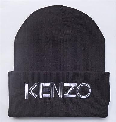 General Kenzo Beanie (Black with White Logo)  Amazon.co.uk  Clothing 73c9ea37e52