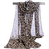 Lubier 1Pcs Bufanda Estampado de Leopardo Protector Solar Playa Mantón Delgada