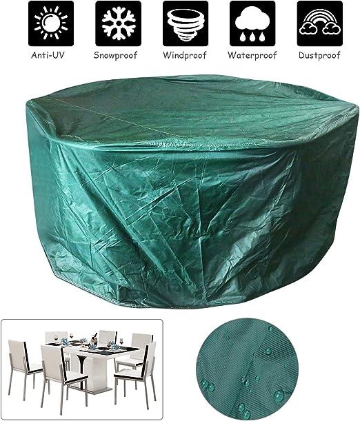 LEADSTAR Funda para Muebles de Jardin Exterior, Cubiertas de Muebles, Grandes sillas de Mesa de jardín al Aire Libre Redondo protección: Amazon.es: Jardín