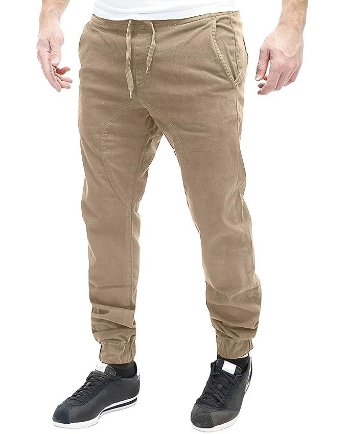 3957a1cce8687 MODCHOK Homme Pantalon Sarouel Chino Jogging Sweat Pants Casual Sport Coton  Couleur Unie: Amazon.fr: Vêtements et accessoires