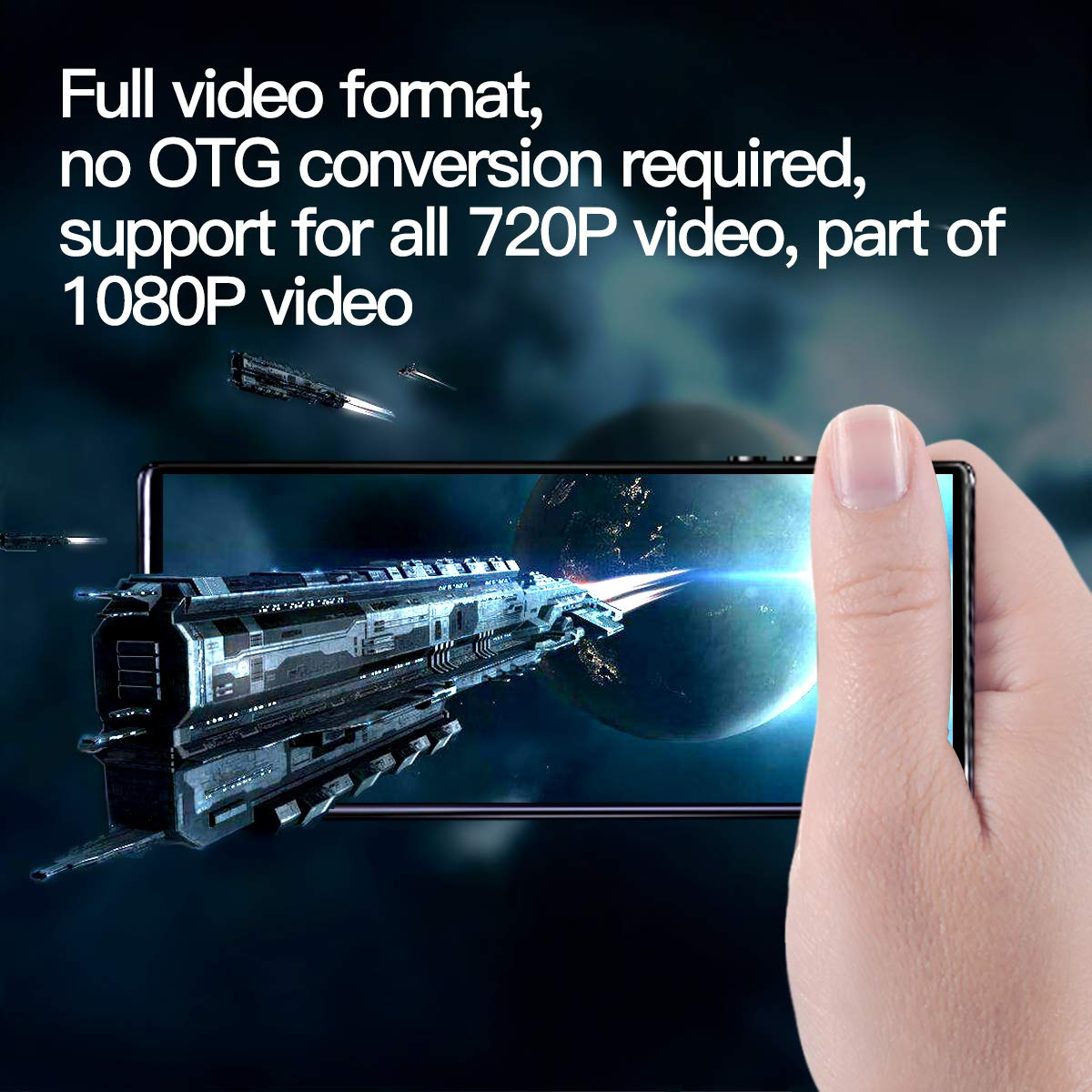 MYMAHDI MP3 Player Negro Reproductor de Sonido HiFi sin p/érdidas con Bluetooth 5.0 Radio FM grabadora de Voz,admite hasta 128GB Alta resoluci/ón y Pantalla t/áctil Completa