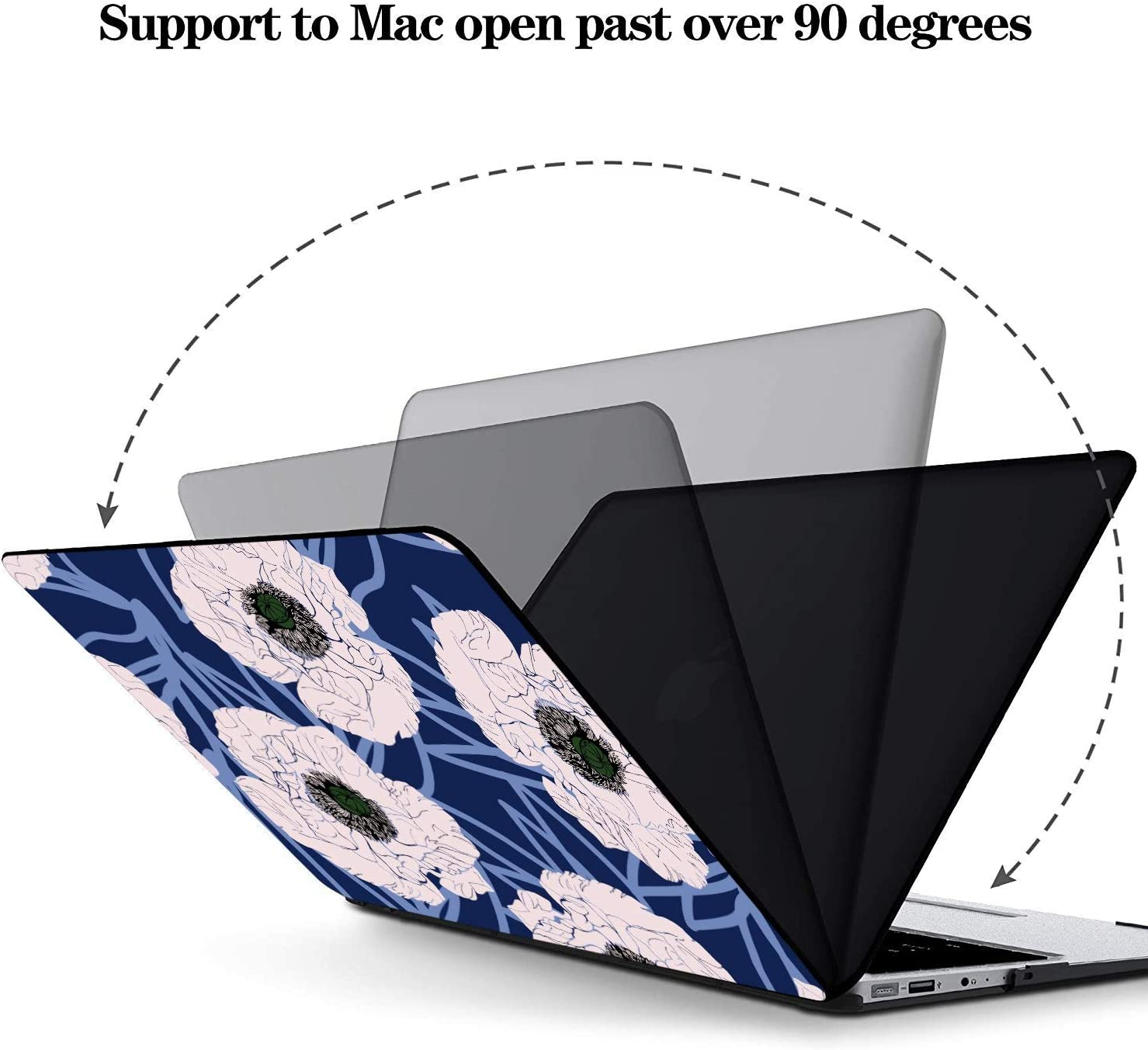 MacBook Pro Cases Colorful Beautiful Flower Poppy Field Plastic Hard Shell Compatible Mac Air 11 Pro 13 15 MacBook Pro Laptop Cover Protection for MacBook 2016-2019 Version