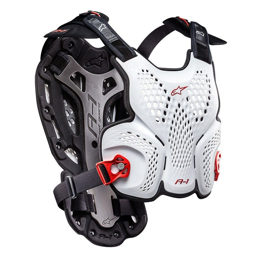 Alpinestars Men's A-1 Roost Guard (White/Black/Red, X-Large/XX-Large)