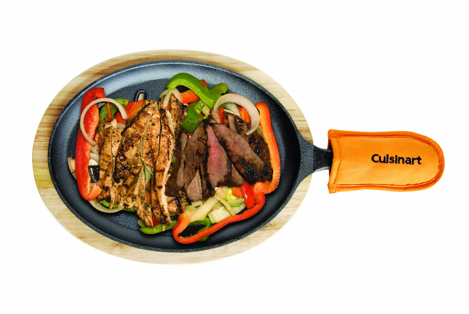 Amazon.com : Cuisinart CFS-219 Pre-Seasoned Cast Iron Grilled ...