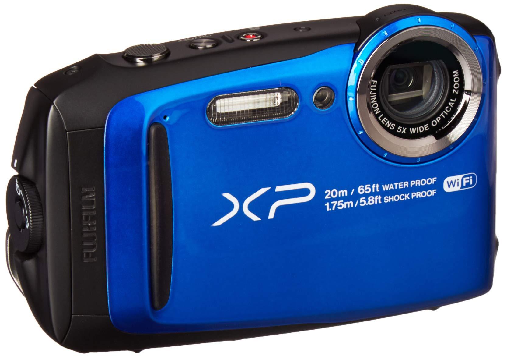 Fujifilm FinePix XP120 Waterproof Digital Underwater Camera USA Model (Blue)