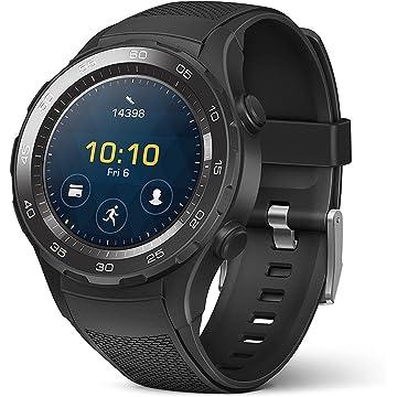 mini Huawei Watch 2 Sport Smartwatch - Ceramic Bezel - Carbon Black Strap