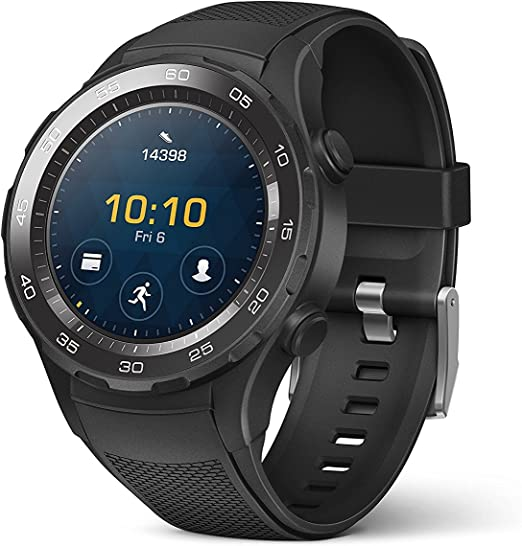 Huawei Watch 2 Sport Smartwatch - Ceramic Bezel - Carbon Black Strap (US Warranty)
