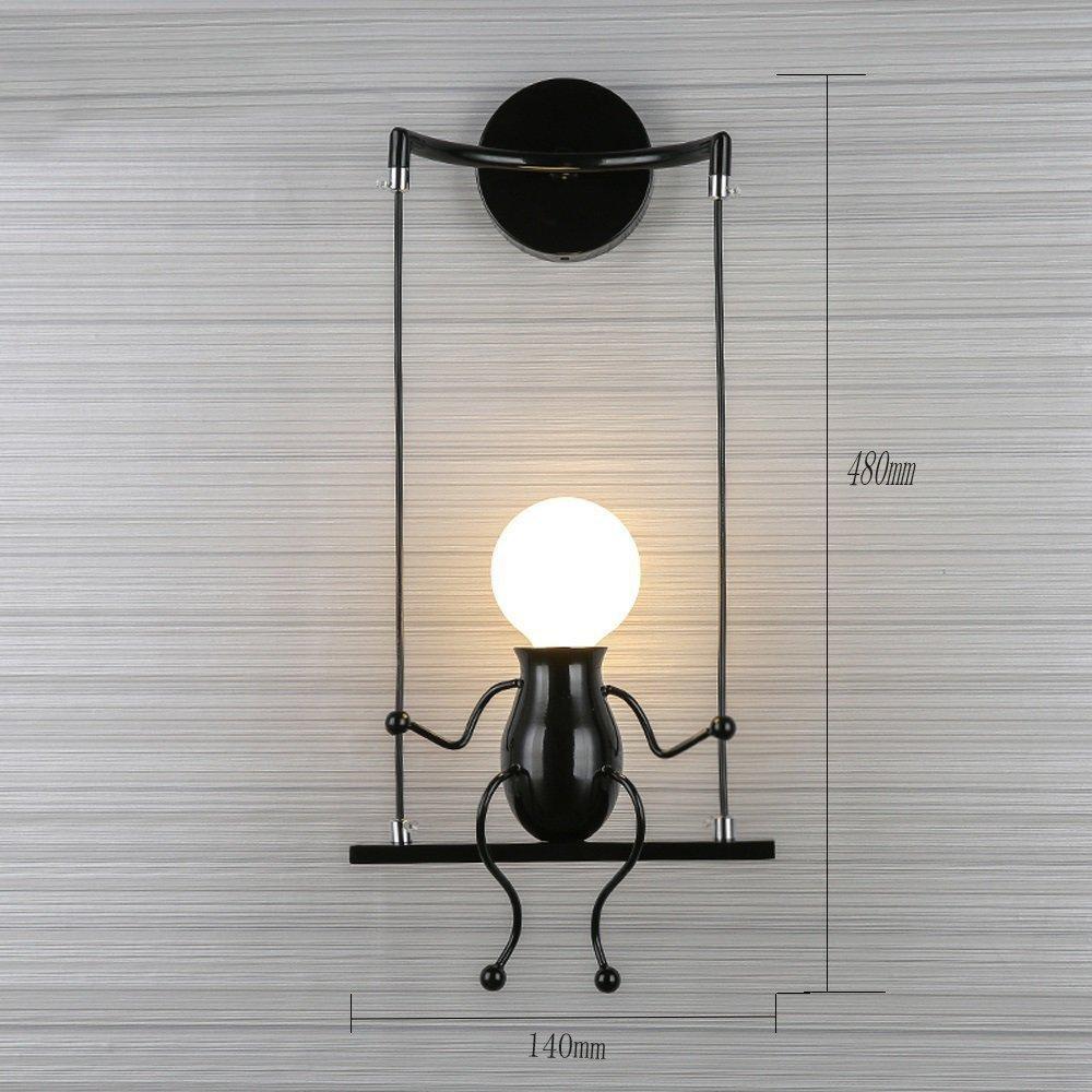 Lampe murale moderne mode applique murale créatif simplicité design appliques pour chambre denfant couloir décoratives eclairage lampe douille e271 max