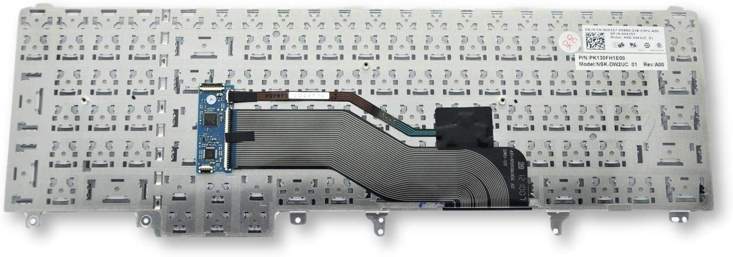 Dell Latitude E5520 E5530 E6520 E6530 US English Keyboard 0X257