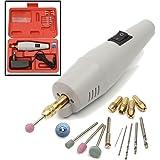 Mini Meuleuse, GOCHANGE 17Pcs Meuleuse Rotative et Kit d'Accessoires / Micro Précision Perceuse à Main Electrique Outil avec 15Pcs Accessoires + Coffret