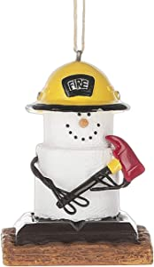 Midwest-CBK S'mores Firefighter Everyday or Christmas Ornament for the Fireman First Responder in Your Life