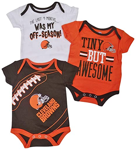 ae70c2a6 Amazon.com: Outerstuff Cleveland Browns Game Day Baby/Infant 3 Piece ...