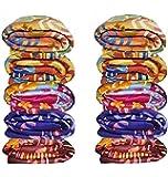 Goyal's Single Bed Multicolor Printed Fleece Blanket - Set of 10