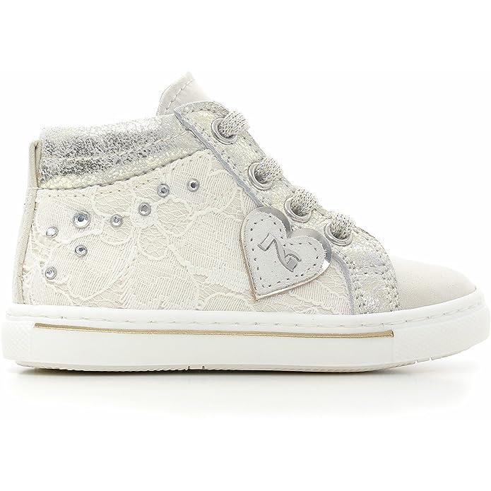 Nero Giardini Junior , Chaussures premiers pas pour bébé (fille) Naplak bianco - - - Naplak bianco, 20 EU