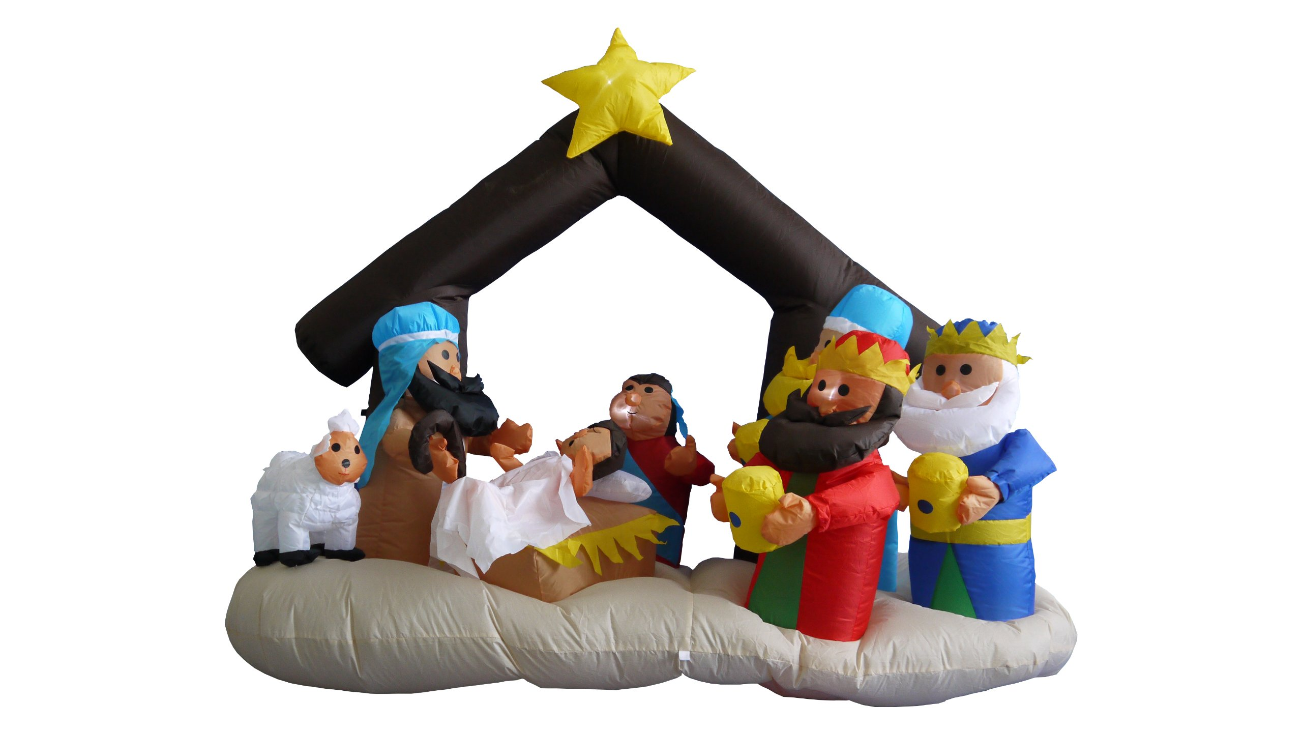 6 Foot Christmas Inflatable Nativity Scene with Three Kings Decoration