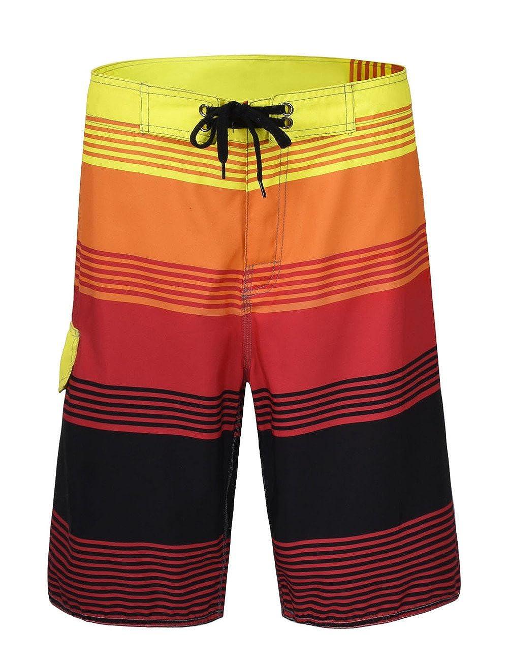 Hopgo Men's Swim Trunks 22' Boardshort Beach Shorts Swimwear Shorts HP-MK03300