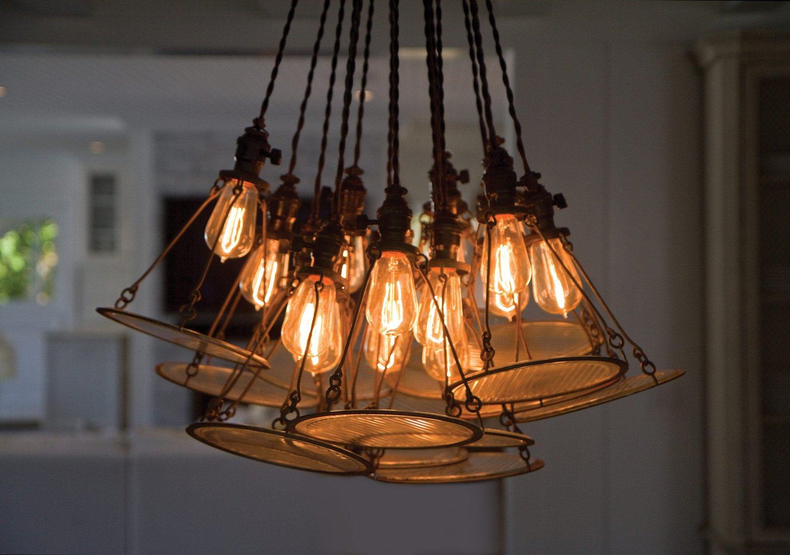 4 Pack Sale - Old Fashion Edison Light Bulbs - Five Star Rated - 60W Vintage Squirrel Cage Filament - 120 Volts - 230 Lumens - ST58 Teardrop - Dimmable Antique Amber Lighting - Warranty Included by Moonrock & Co. (Image #5)