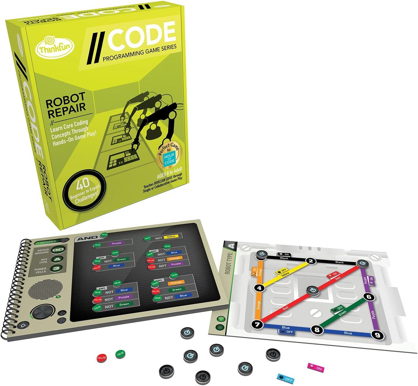 ThinkFun Robot Repair Coding Juego de Mesa y Juguete Stem para niños y niñas a Partir de 8 años: Amazon.es: Juguetes y juegos
