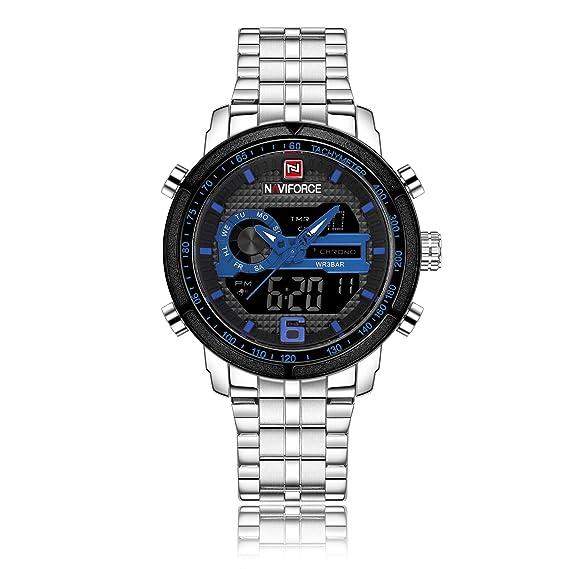Naviforce - Reloj de Pulsera para Hombre, Acero Inoxidable, analógico, analógico, Digital