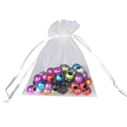 ef75a69cdec7 Amazon.com: Housweety Organza Drawstring Pouches Jewelry Party ...
