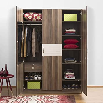 Home Centre Akron Crystal 3 Door Wardrobe Amazon In Home Kitchen