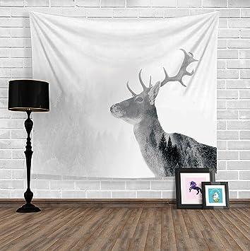 Wald Elch Hängenden Tuch Schlafzimmer Wandverkleidung Stoff Tapisserie Wand  Dekoration Tapestry Hintergrund Tuch Tischdecke , 130