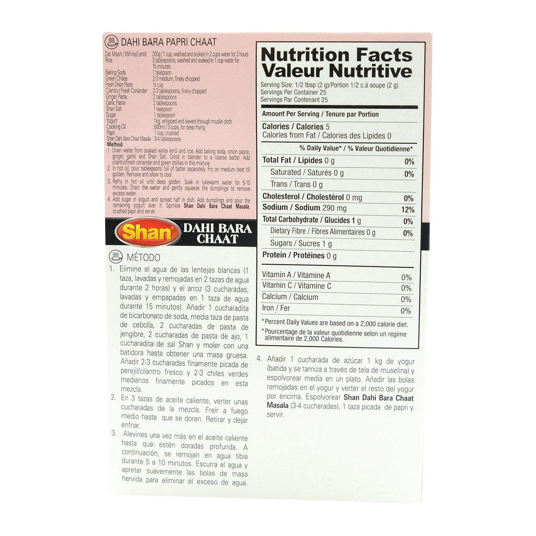 Amazon.com : Shan Dahi Bara Chaat Seasoning - 60g : Spices And Seasonings : Grocery & Gourmet Food