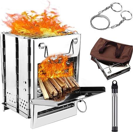 UK Portable Outdoor Camping Picnic BBQ Burning Wood Stove For Camping Picnic BBQ
