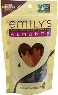 product image for Emily's NON GMO Dark Chocolate Covered Almonds, 5 Ounce (Pack of 3)
