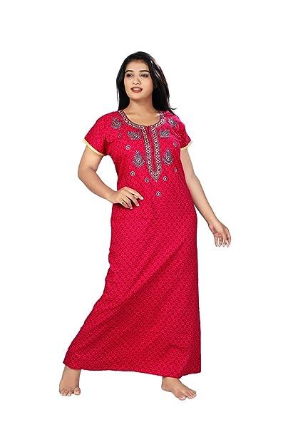 c1127e756c MAHAARANI Fancy Nighty Night Wear Sleep Wear for Women  Amazon.in  Clothing    Accessories