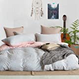 TheFit Paisley Textile Bedding for Adult U642 Love Pink Relax Duvet Cover Set 100% Knited Cotton, Twin Queen King Set, 3-4 Pieces (Twin)