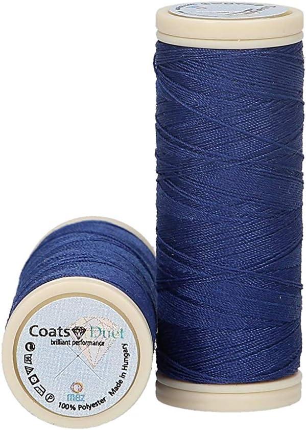 MEZ 4644100-07629 Fil /à coudre en polyester Bleu