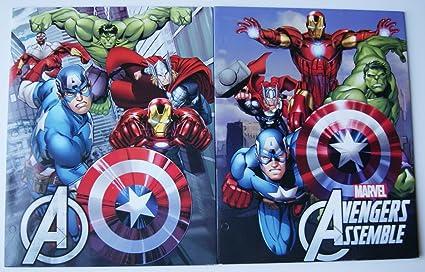 Avengers Assemble cartera carpeta escuela Set – Pack de dos ...