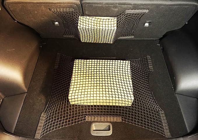 058 Universale Rete per Bagagliaio Bagagli Nero Auto de Velcro 60 x 80 cm