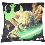 Star Wars Coussin Garçon Maitre Yoda 40 x 40 cm - Noir - TU