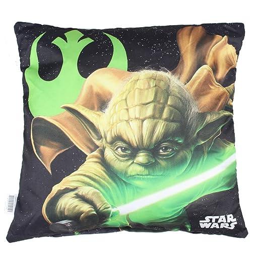 Star Wars Cojín Niños Maitre Yoda 40 x 40 cm: Amazon.es: Hogar