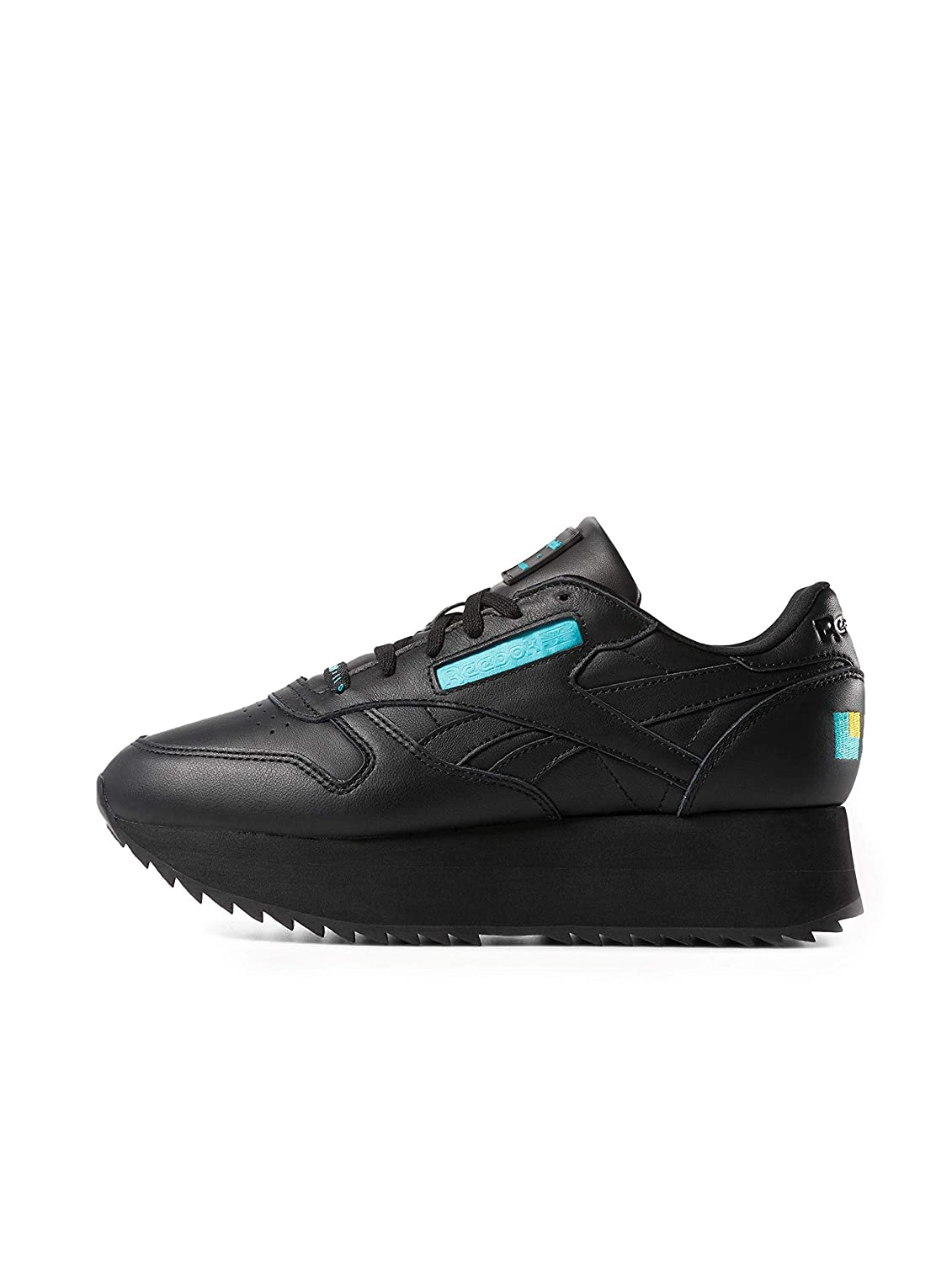 Reebok Damen Turnschuhe Classic Leather Double schwarz 42