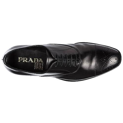 Prada Scarpe Stringate Classiche Uomo in Pelle Nuove Nero  Amazon.it ... e786c0f0a53